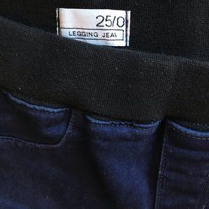 GAP Jeans - GAP Dark Wash Legging Jean with Zipper Detail